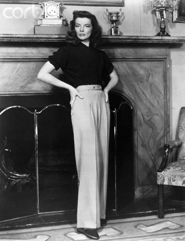 Katharine Hepburn - in pants