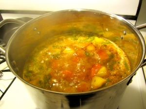 beginning to simmer