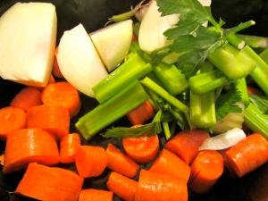 veggies in the crock