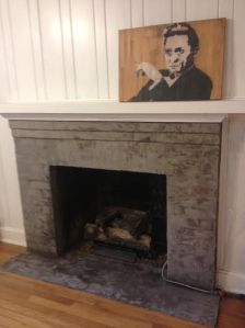 second coat--fireplace